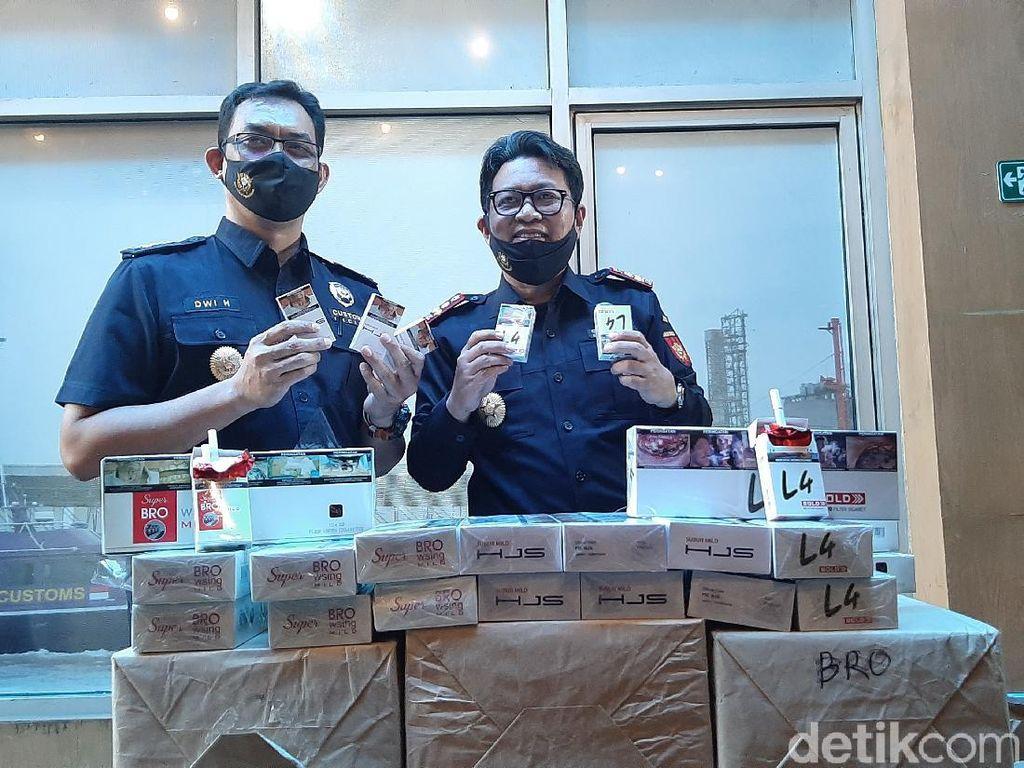 Peredaran 28 Ribu Batang Rokok Ilegal Digagalkan Bea Cukai, 2 Orang Diciduk