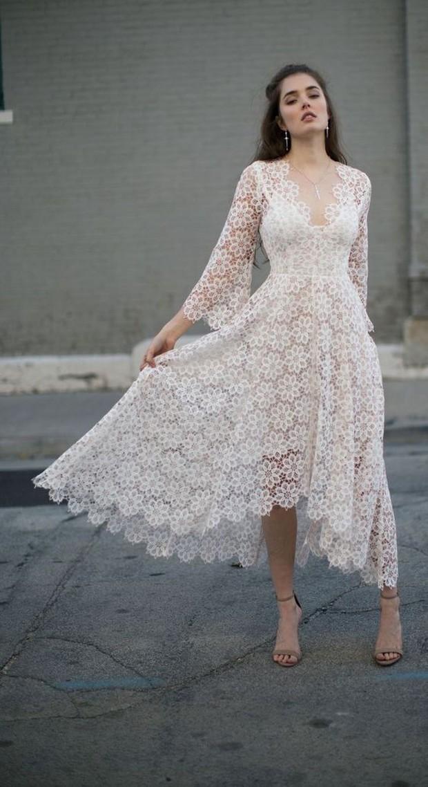 High low floral dress yang feminin