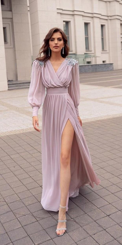 Puff sleeve long dress, gaun pernikahan yang glamor dan classy