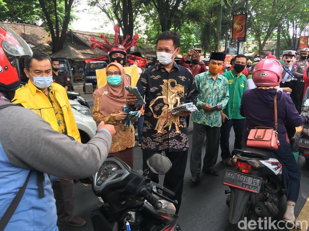 Tiga Paslon Janji Patuhi Protokol Kesehatan di Pilbup Mojokerto