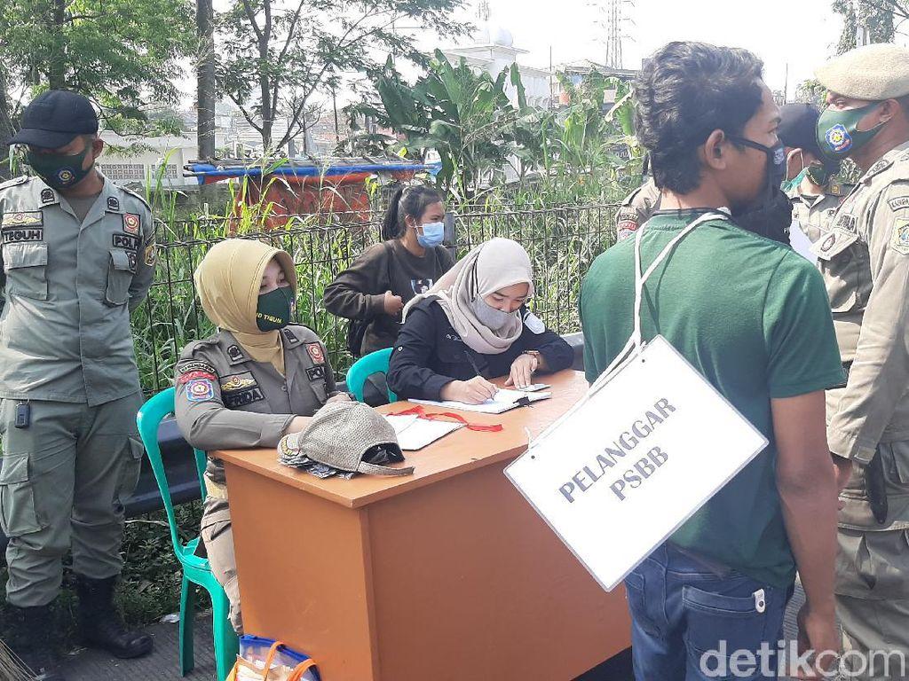 Puluhan Warga Tak Bermasker Terjaring Razia di Bogor