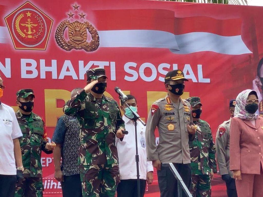 Cegah Corona, Panglima TNI-Kapolri Lepas Tim Pendisiplinan Kesehatan di Sulteng
