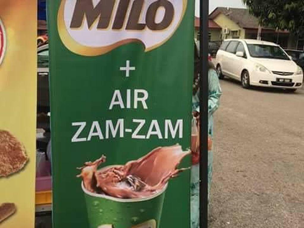 Wah! Gerai Ini Jual Racikan Es Cokelat Campur Air Zam-zam