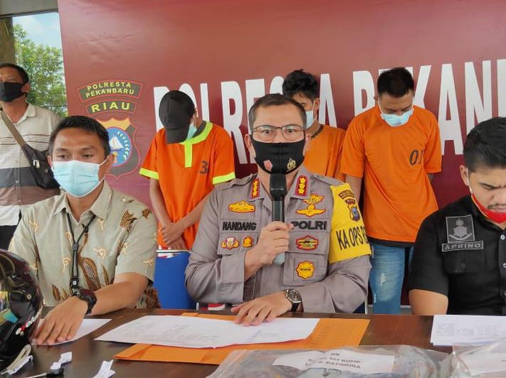 Polisi Tangkap Komplotan Jambret Sadis yang Tewaskan Korbannya di Pekanbaru
