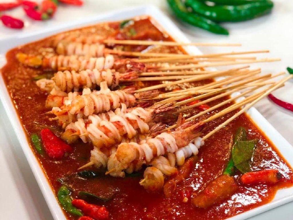 Masak Masak : Sate Seafood Garing Saus Padang