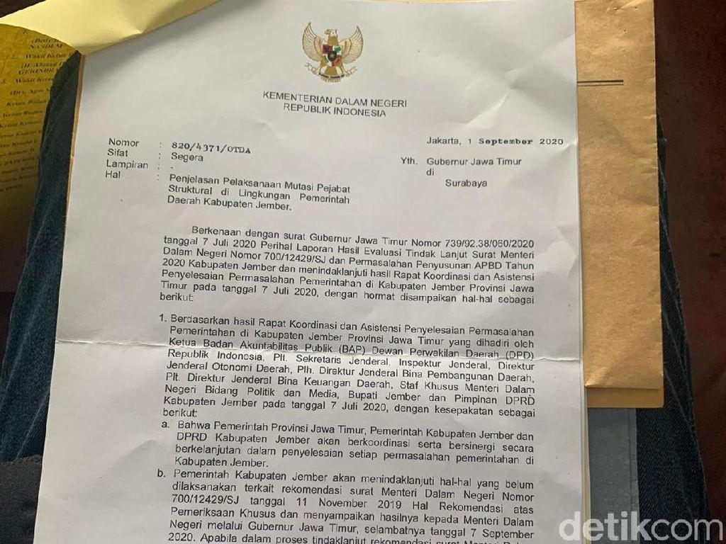 Mendagri Tolak 611 Pejabat yang Diangkat dan Dimutasi Bupati Jember