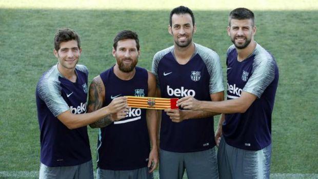 Lionel Messi tetap menjadi kapten Barcelona musim 2020/21.