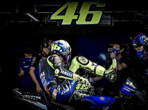 Valentino Rossi di Kualifikasi MotoGP San Marino 2020.