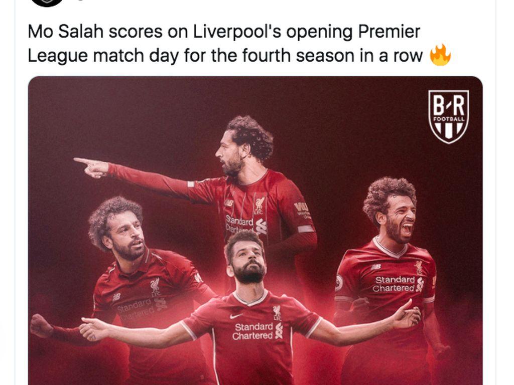 Tiga Gol Mo Salah Bikin Netizen Terperangah