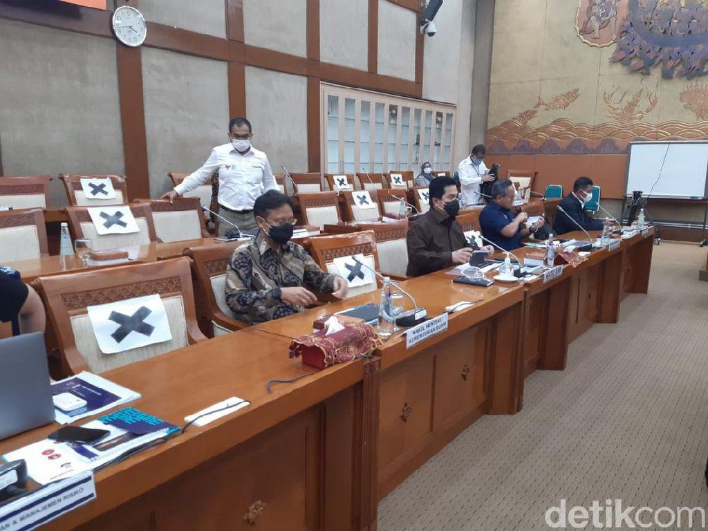 DPR dan Erick Thohir Rapat Tertutup Bahas Suntikan PMN hingga Utang