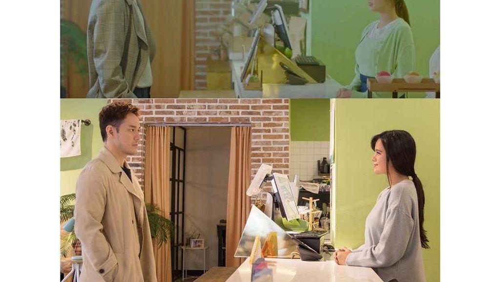 Pose Audi Marissa dan Anthony Xi saat di Kafe Ini Persis dalam Drama Korea