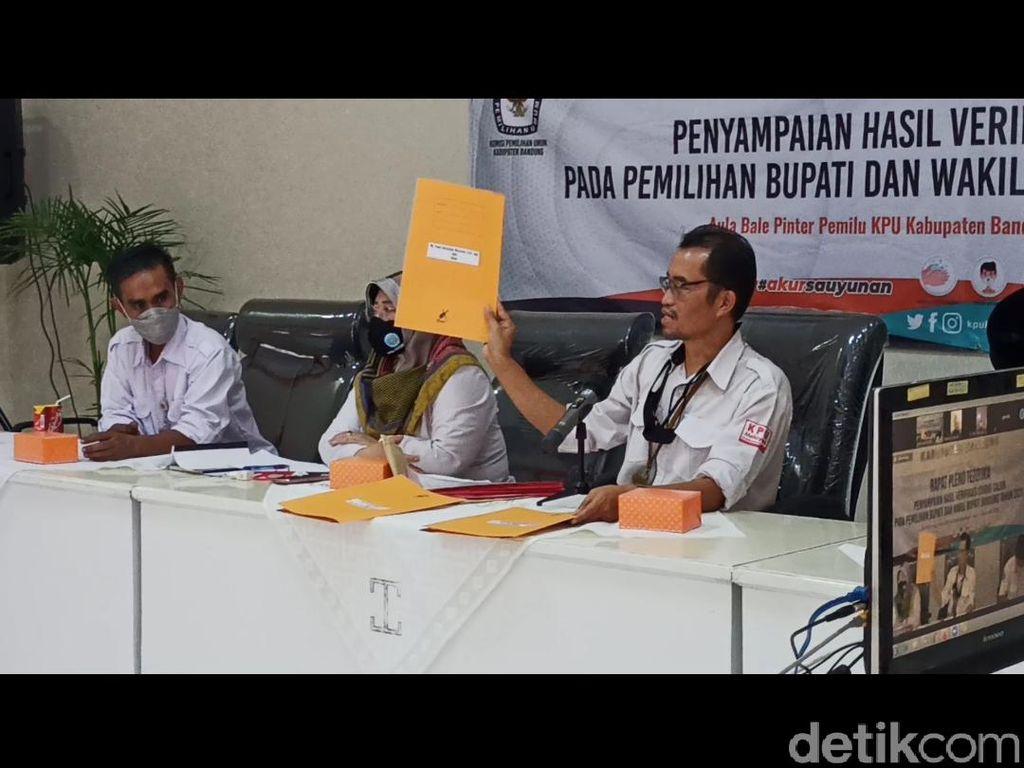 KPU Temukan Berkas Tidak Sah dari 3 Paslon Pilbup Bandung