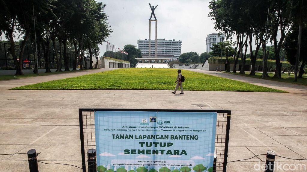 Lapangan Banteng Kembali Ditutup