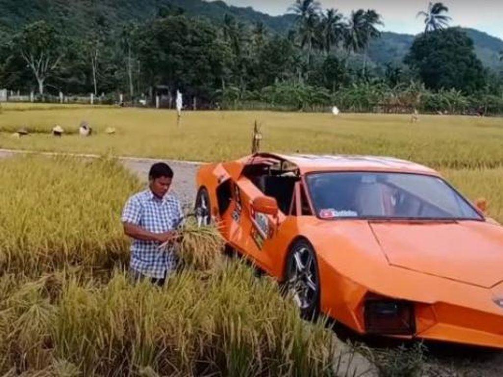 Gokil! Petani Aceh Sulap Motor Jadi Mirip Lamborghini Hotman Paris