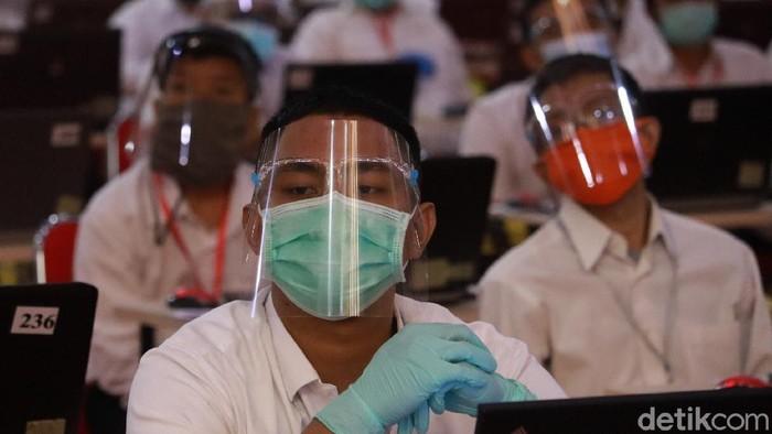 Potret CPNS di Kota Bandung saat mengikuti seleksi