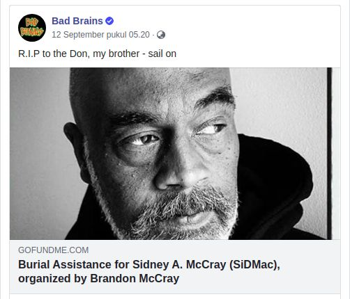 Sid McCray Bad Brains