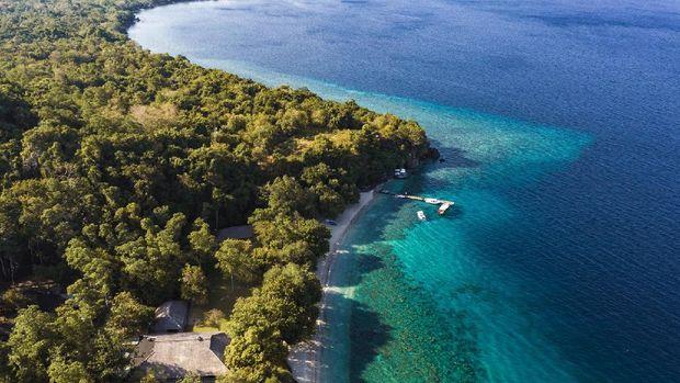 Amanwana di Pulau Moyo, Sumbawa, Indonesia.