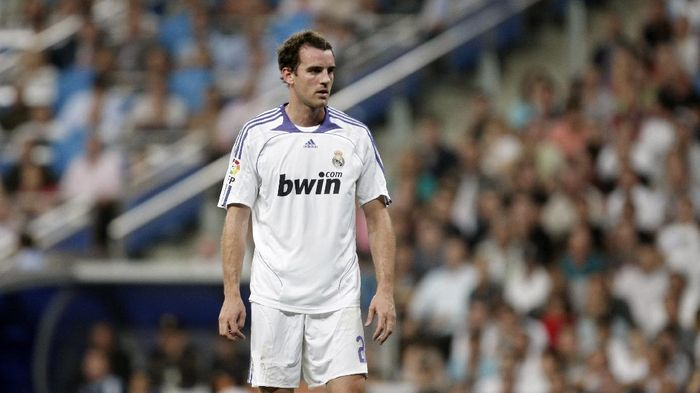 MADRID, SPAIN - AUGUST 25:  Christoph Metzelder of Real Madrid looks on during the Spanish League match between Real Madrid and Atletico de Madrid at the Santiago Bernabeu Stadium on August 25, 2007 in Madrid, Spain. Real Madrid won the match 2-1.  (Photo by Jasper Juinen/Getty Images)