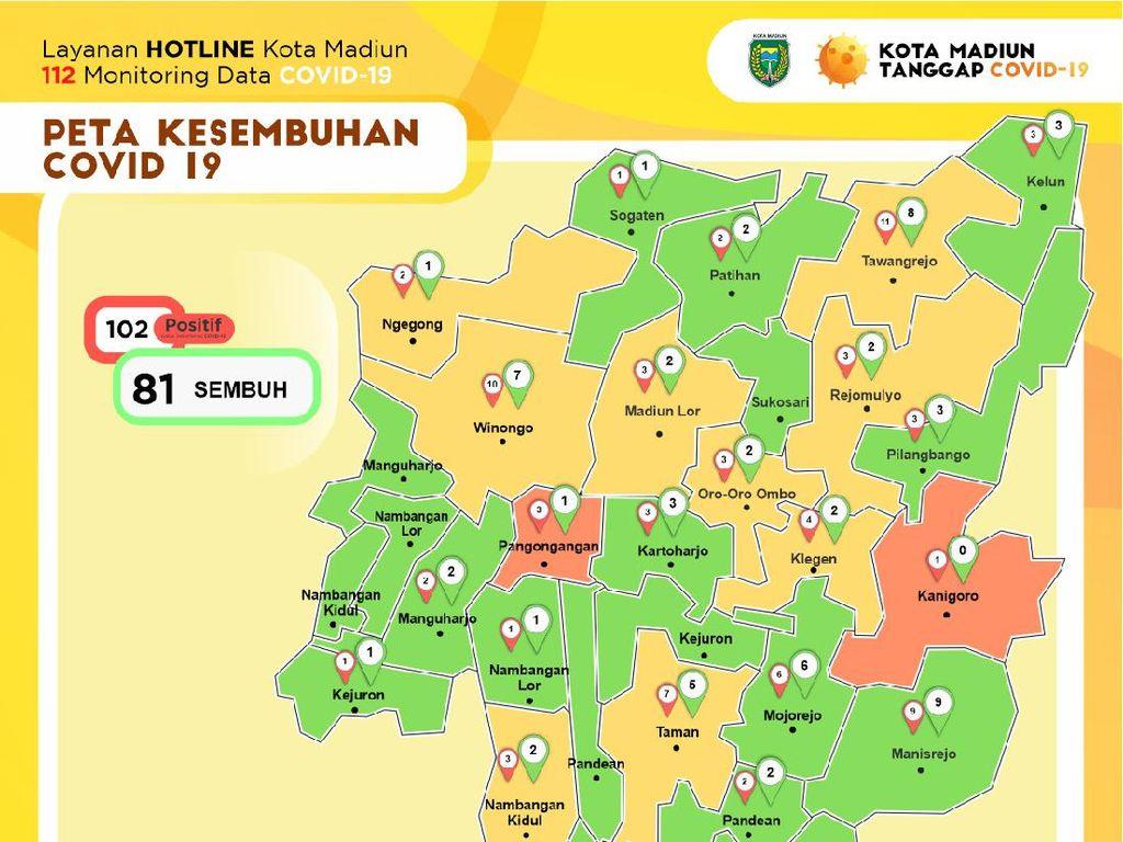 Kota Madiun Masih Jadi Zona Oranye COVID-19 dengan 3 Kasus Positif Baru