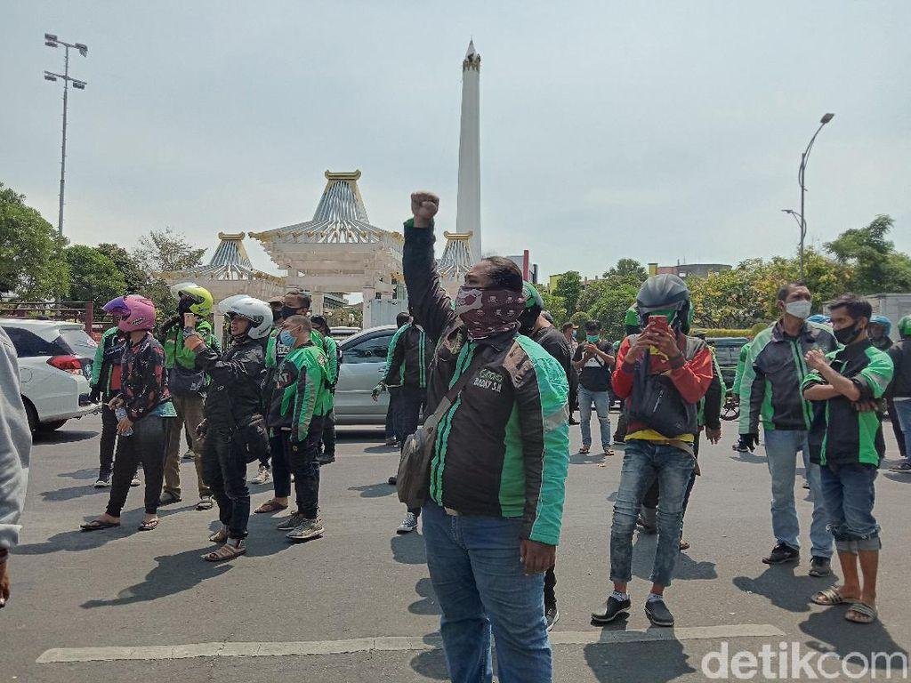 Geruduk Kantor Gubernur Jatim, 1.000 Driver Ojol Suarakan Tuntutan
