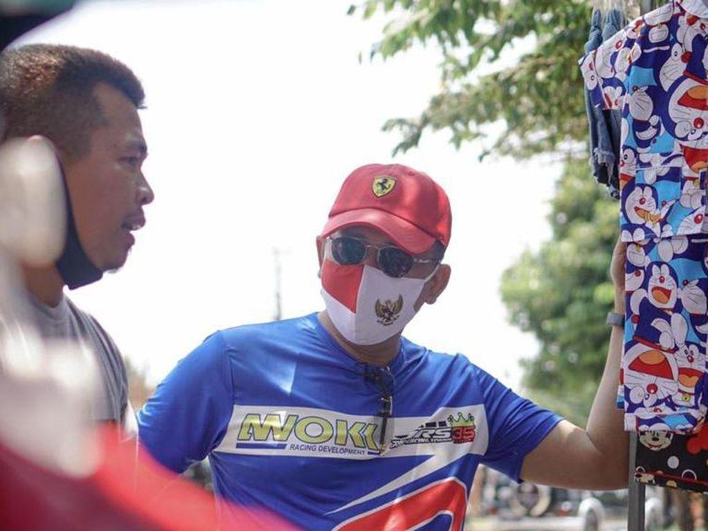 Temui PKL Bogor, Bamsoet Minta Pedagang Jangan Nyerah di Tengah Pandemi