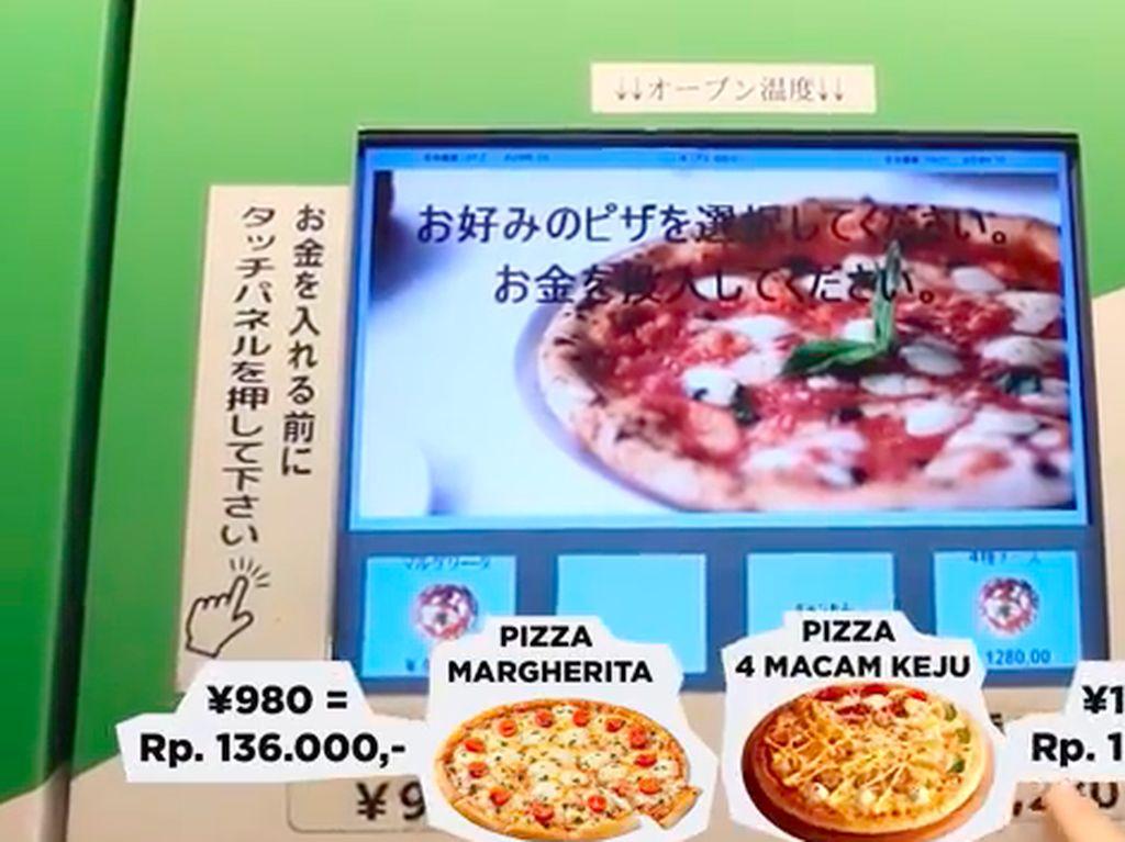 Satu-satunya di Jepang, Ini Vending Machine yang Jual Pizza Hangat