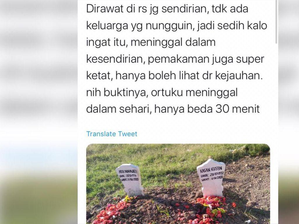 Viral Cerita Sekeluarga Terkena Corona, Ayah-Ibu Meninggal Selisih 30 Menit