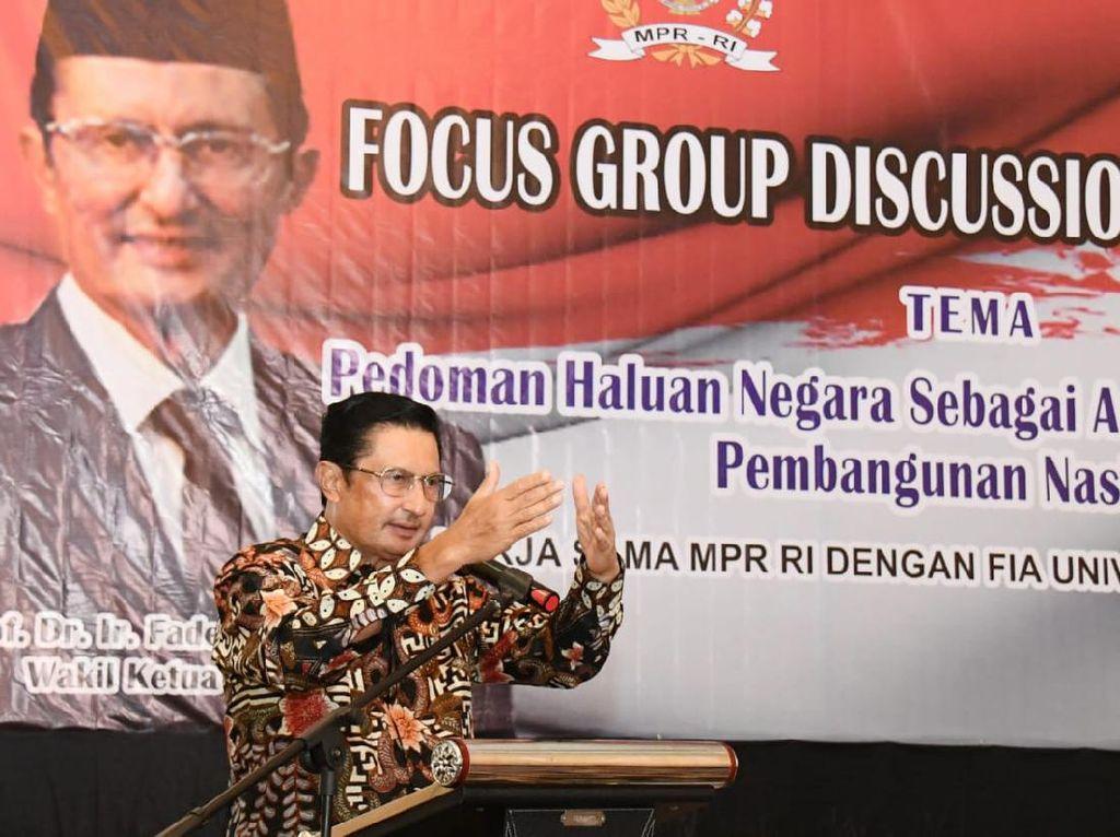 MPR Sebut Haluan Negara Harus Fokus pada Kesehatan & Pendidikan