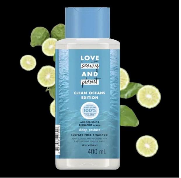 kemasan lobe beauty planet shampoo
