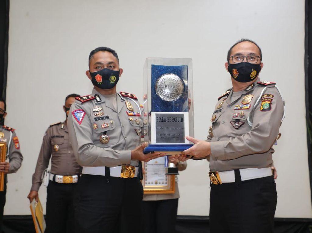 Satlantas Polres Depok Raih Penghargaan Program RSPA Terbaik