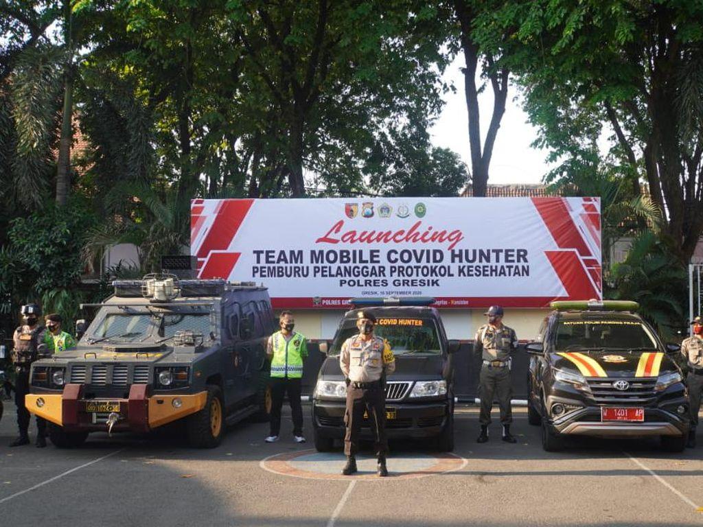 Awas, Warga Gresik Abai Protokol Kesehatan Bakal Diburu Mobile COVID Hunter