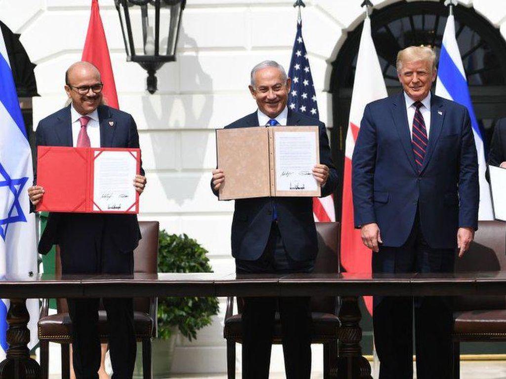 Perjanjian Damai Israel-UEA-Bahrain Resmi Diteken di Gedung Putih AS