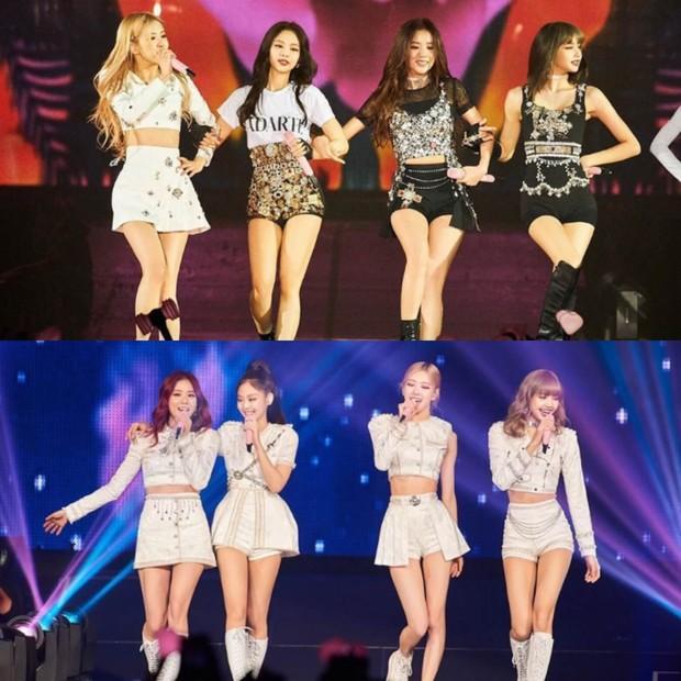 Konsep comeback mereka pun selalu berubah, tapi blazer, crop top, short skirt, louce blouses menjadi outfit ciri khas mereka.