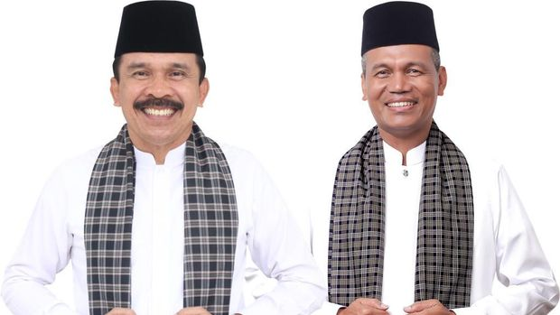 Calon Gubernur Sumatera Barat Fakhrizal dan Calon Wakil Gubernur Sumatera Barat Genius