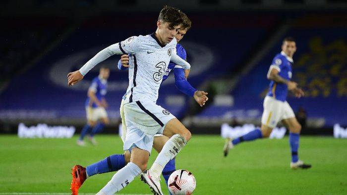 BRIGHTON, ENGLAND - SEPTEMBER 14: Kai Havertz of Chelsea in action during the Premier League match between Brighton & Hove Albion and Chelsea at American Express Community Stadium on September 14, 2020 in Brighton, England. (Photo by Richard Heathcote/Getty Images)