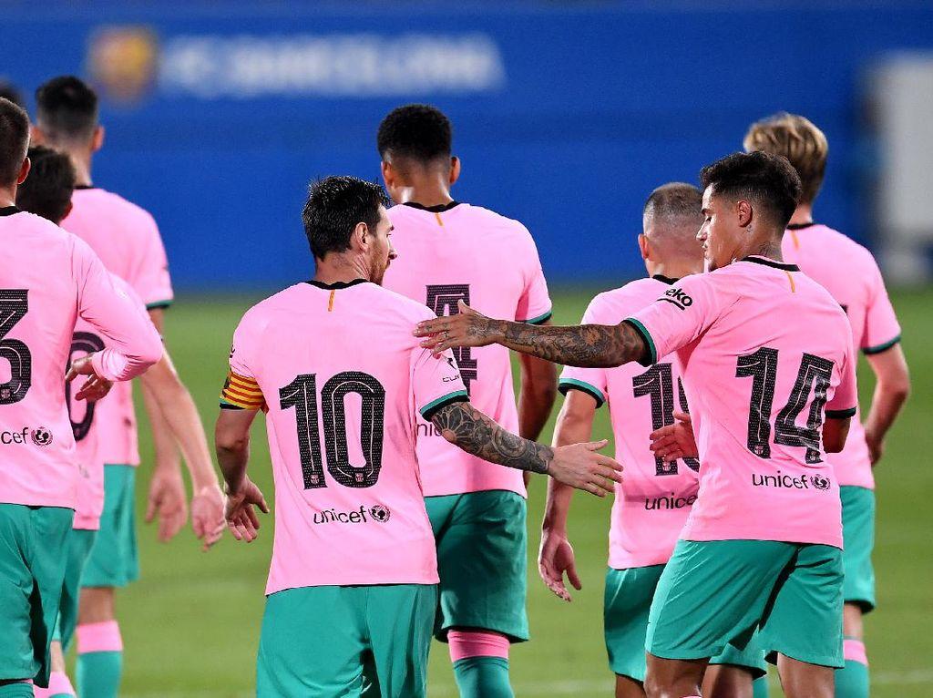Video Aksi Coutinho-Messi Bantu Barcelona Gebuk Girona