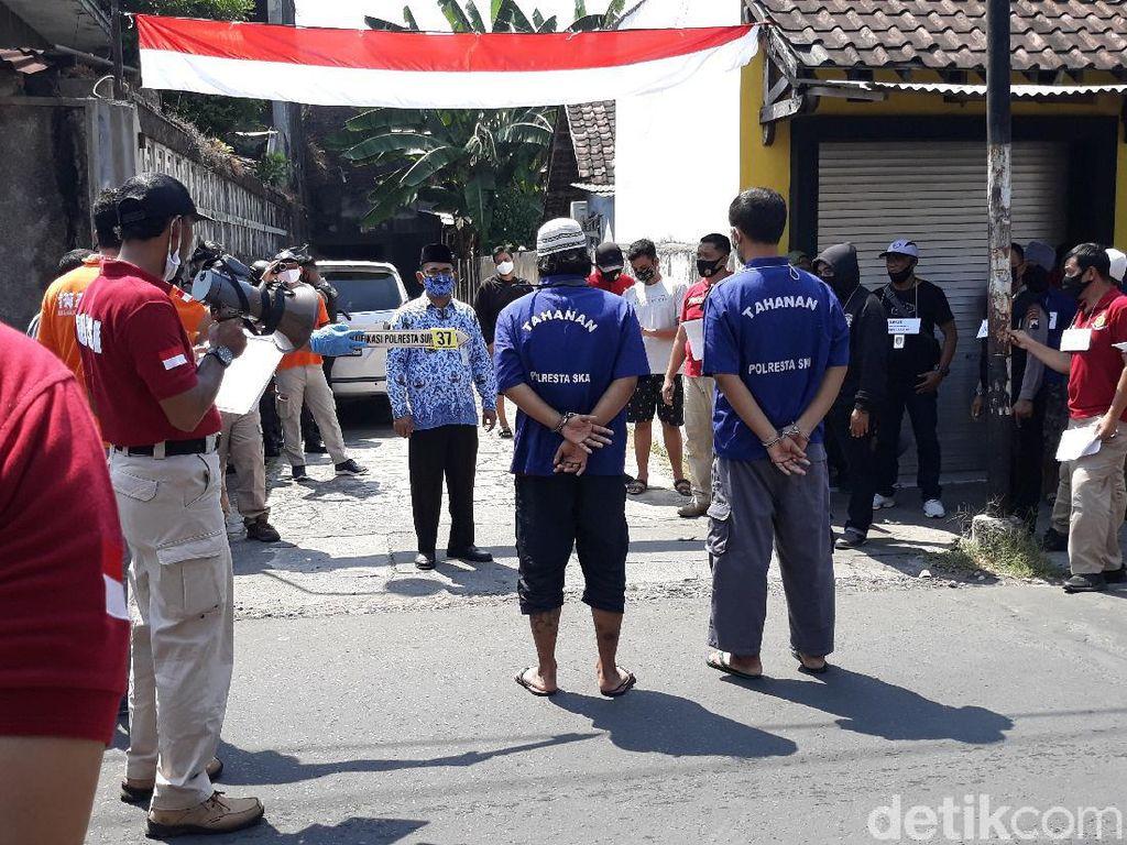 Rekonstruksi Penyerangan Doa Nikah di Solo, 77 Adegan Diperagakan