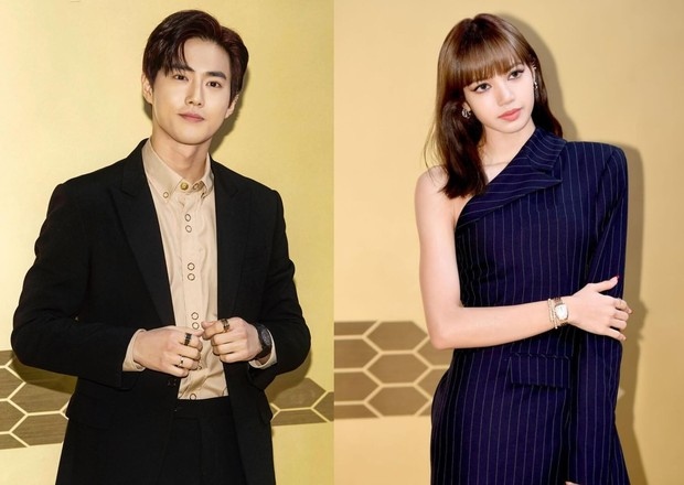 Suho 'EXO' dan Lisa 'BLACKPINK' menghadiri sebuah acara peluncuran 'BVLGARI Serpenti Seduttori Watch' di Seoul, Korea Selatan.
