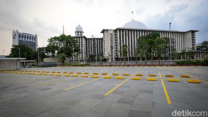 Inilah wajah teranyar Masjid Istiqlal, masjid terbesar di Asia Tenggara yang dapat menampung 200.000 jamaah usai di renovasi.