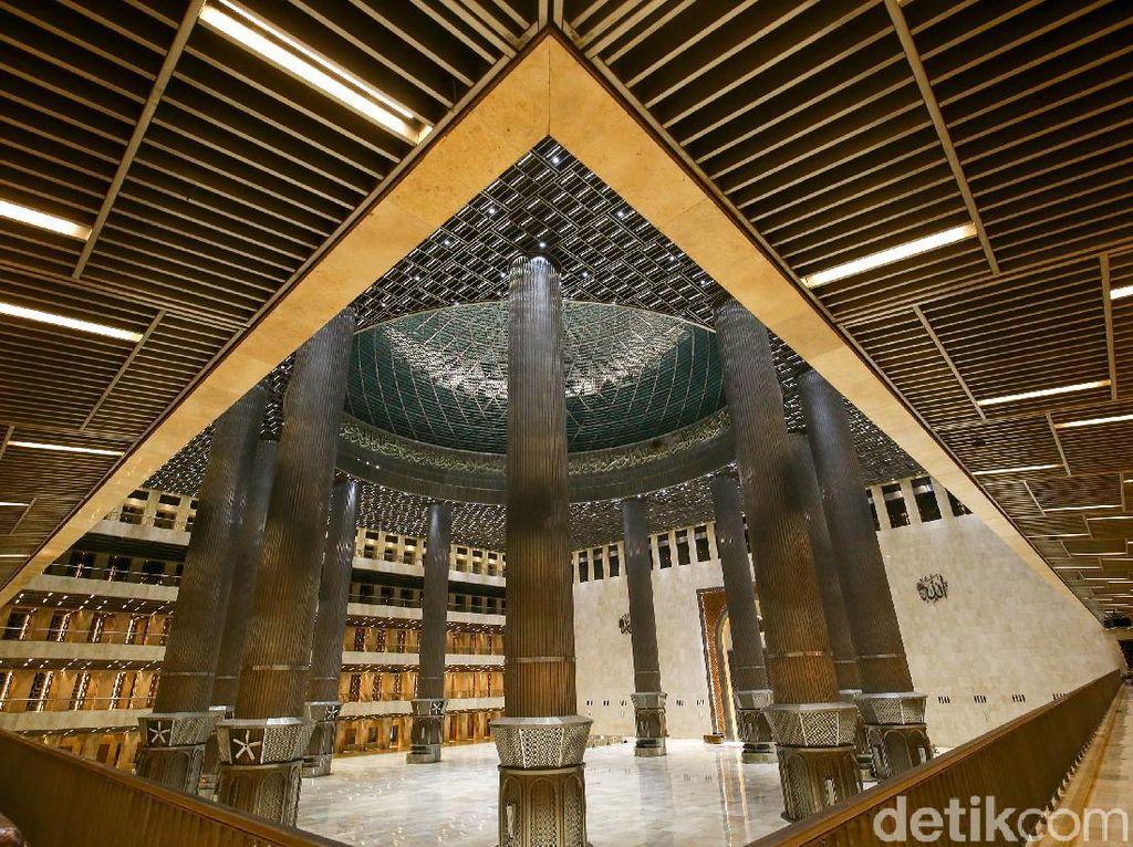 Foto Wajah Baru Istiqlal, Masjid Terbesar di Asia Tenggara