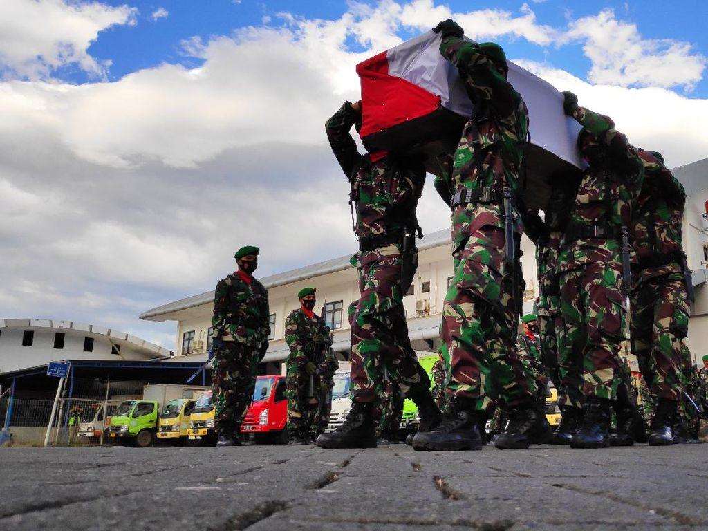 Video Jenazah TNI Korban Penembakan KKB Tiba di Makassar