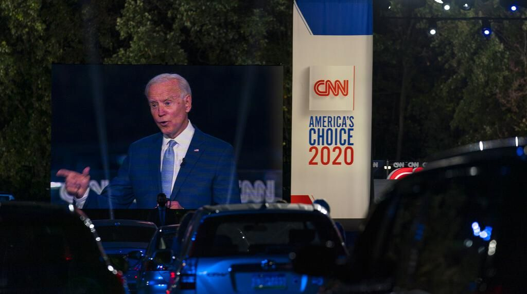 Joe Biden Gelar Kampanye Drive-in