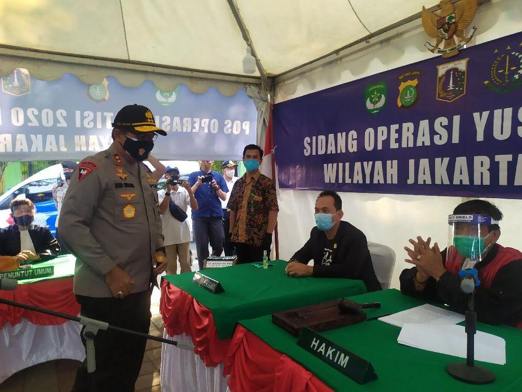 Operasi Yustisi di Danau Sunter Jakut, 9 Pelanggar Sidang di Tempat