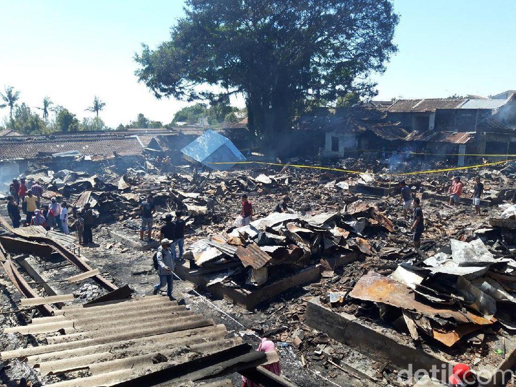 Pasar Cepogo Boyolali Ludes Terbakar, 600 Pedagang Kehilangan Los Jualan