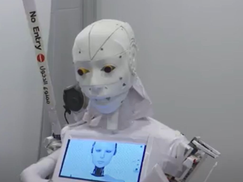 Wujud Robot Mesir yang Bantu Tenaga Medis Terhindar dari Covid-19