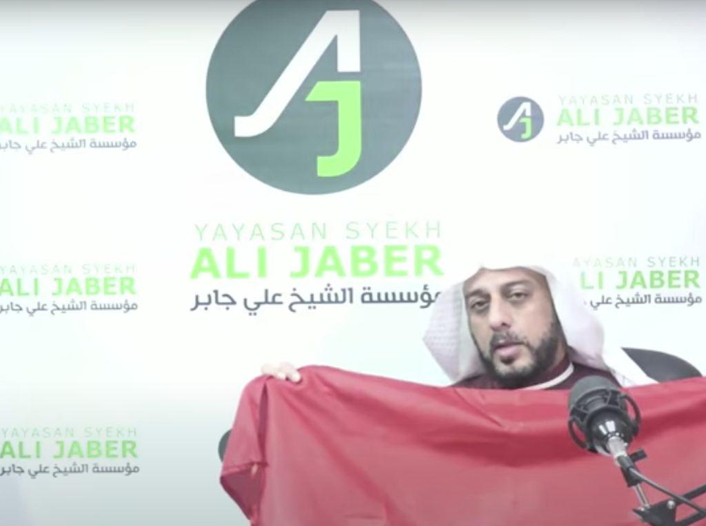 Syekh Ali Jaber Akan Hadiahkan Bendera Merah Putih untuk Penusuknya