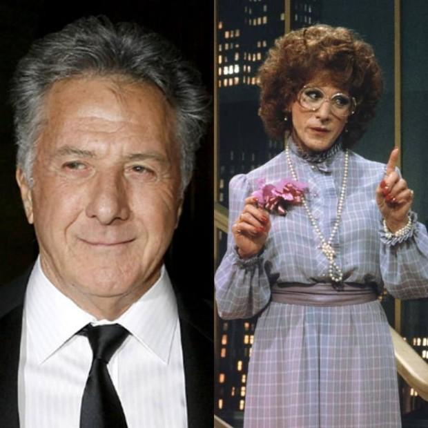 Dustin Hoffman harus mengubah penampilannya menjadi perempuan dalam film Tootsie