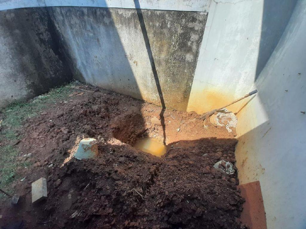 Ini Lubang Kuburan yang Disiapkan Sejoli untuk Mengubur Korban Mutilasi