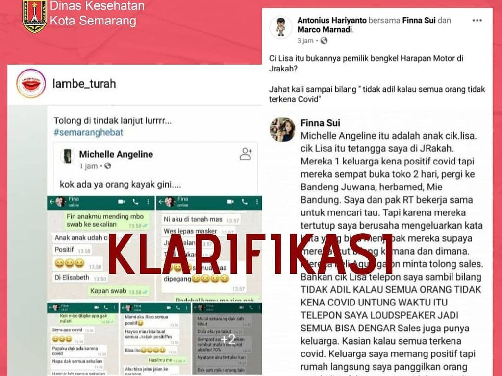 Viral Chat Ajak Tularkan Corona di Semarang, Polisi Turun Tangan