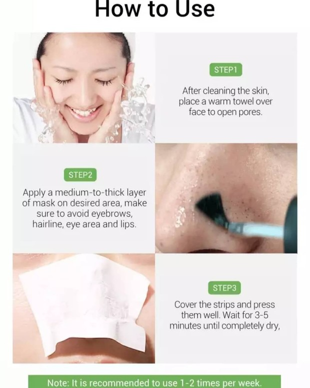 cara menggunakan breylee blackhead mask ini cukup simpel dan mudah